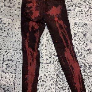 Zara Jeans - Red and black denim jeans